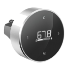 Панель управления с поворотным кольцом, индикацией текущего положения и 4 сенсорными кнопками